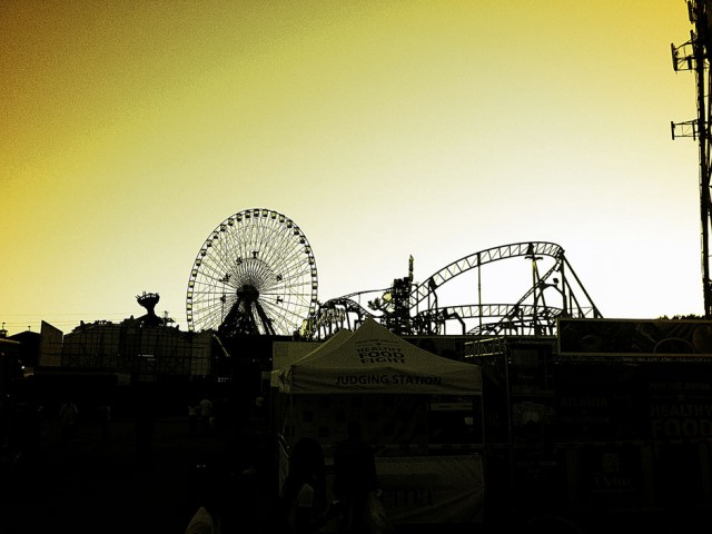 ferris wheel state fair of texas skyline dallas