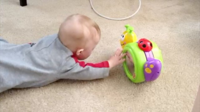 baby inch worm crawling learning