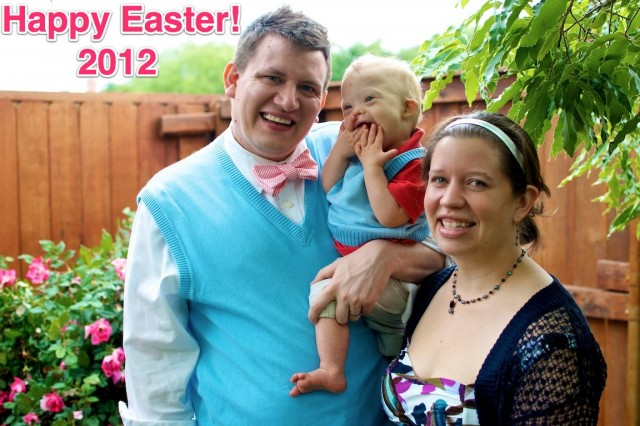 happy easter down syndrome baby