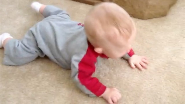 inchworming inch worm baby learning to crawl