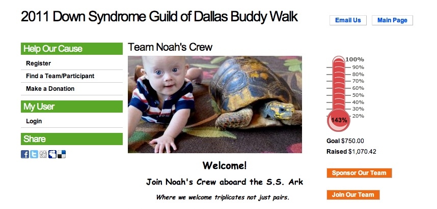 fund raiser buddy walk down syndrome