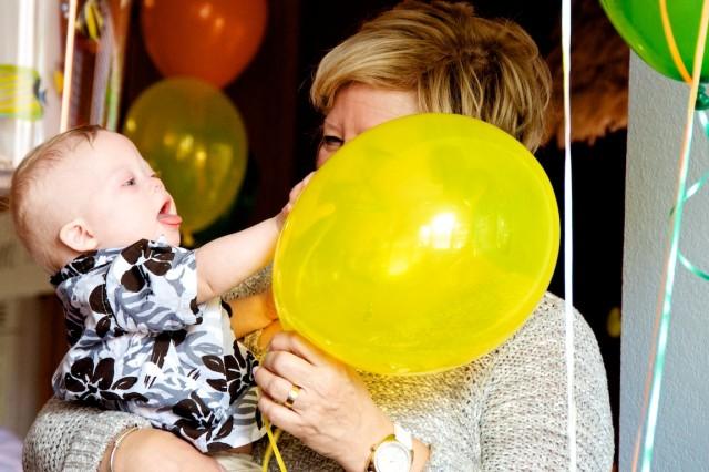 supportive grandma down syndrome baby child newborn
