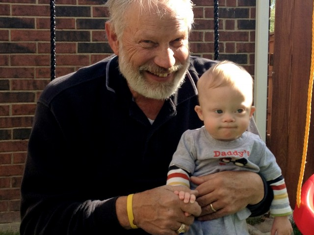 grandson grandfather down syndrome baby