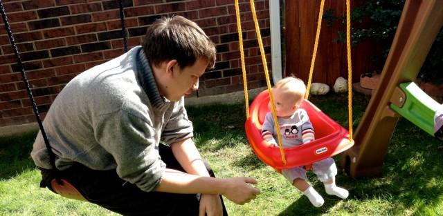 little tikes high back toddler swing boy child