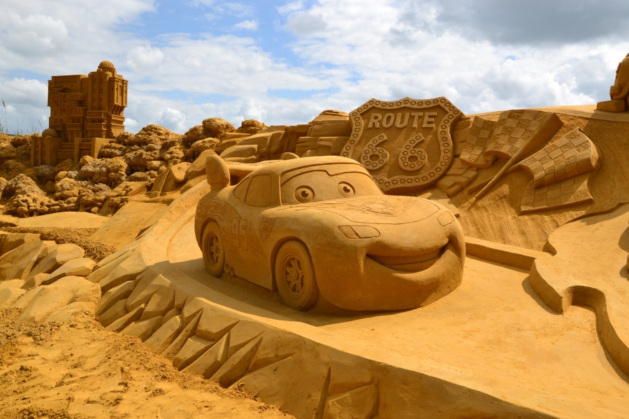 cars sandcastle disney best sand castle
