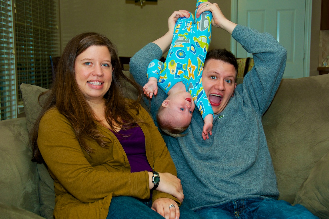 happy family child's first thanksgiving down syndrome