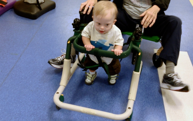 3 Activities To Do Before Your Child Takes Their First Steps, Plus Noah Cruising On The Gait Trainer!