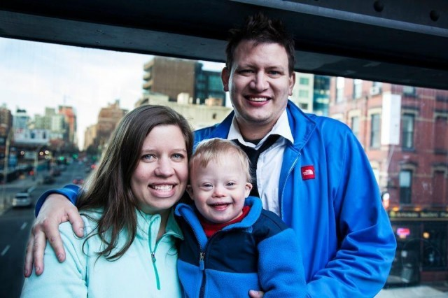 loving family child down syndrome high line new york