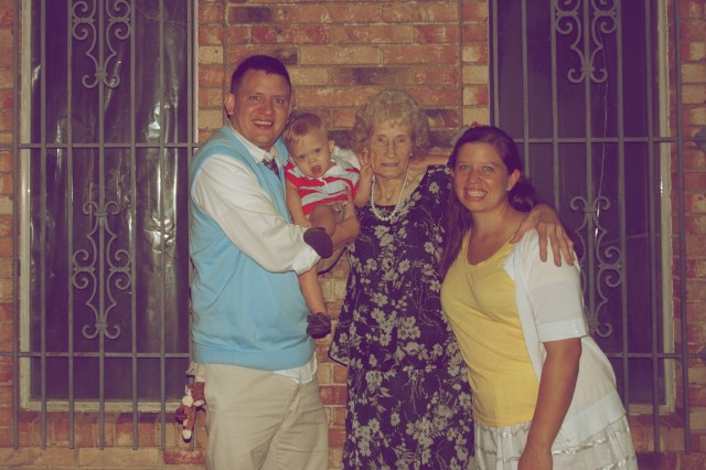 down syndrome boy meeting great aunt
