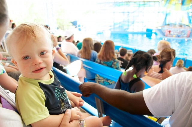 down syndrome child at sea world
