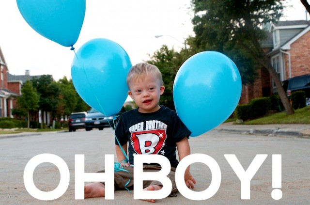 gender reveal photo ideas child with down syndrome