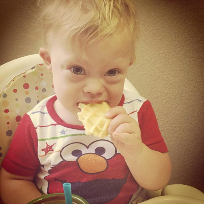 down-syndrome-baby-eating-waffle