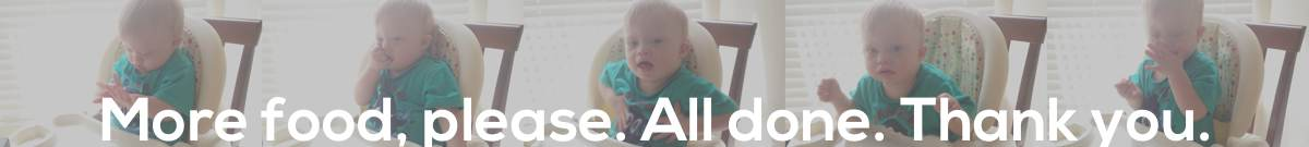 baby using making sentences sign language down syndrome