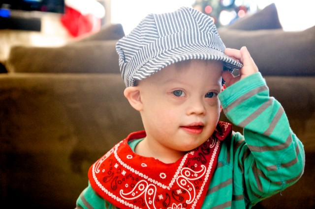down syndrome train engineer 3 years old birthday