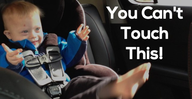 baby dancing in car seat you can t touch this