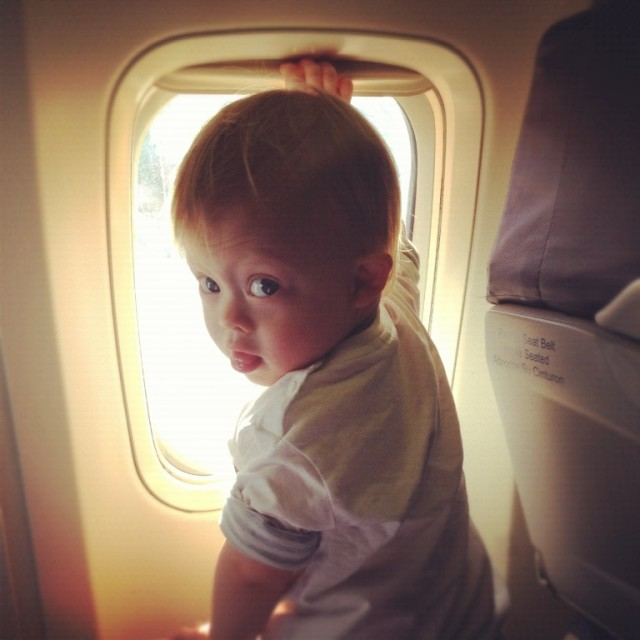 baby on plane dallas new york