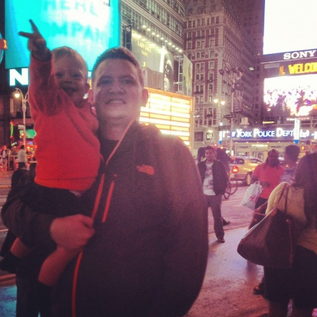 father son times square night special needs