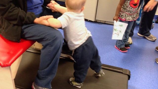 pediatric treadmill training therapy for kids