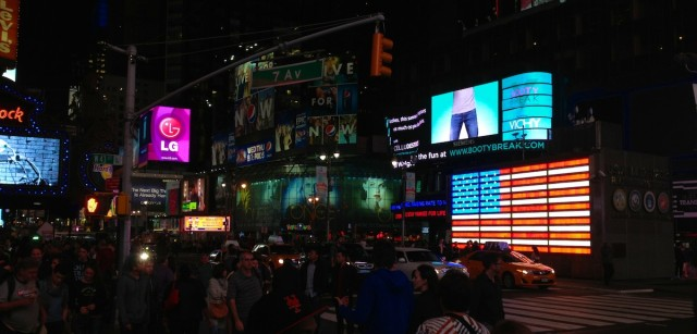 times-square-night-american-flag-side-of-building
