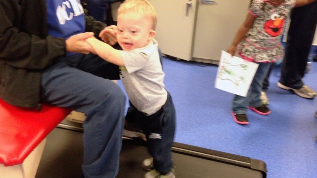 treadmill therapy videos kids down syndrome