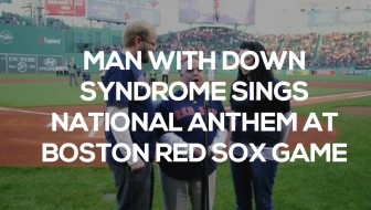 Michael Mullins down syndrome sings national anthem
