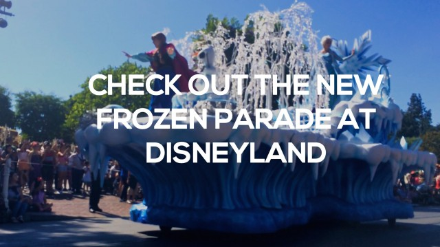 new frozen parade at disney land