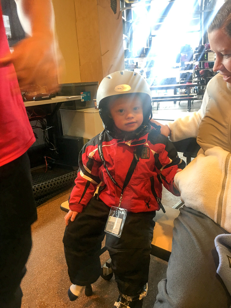 ski helment for child with special needs