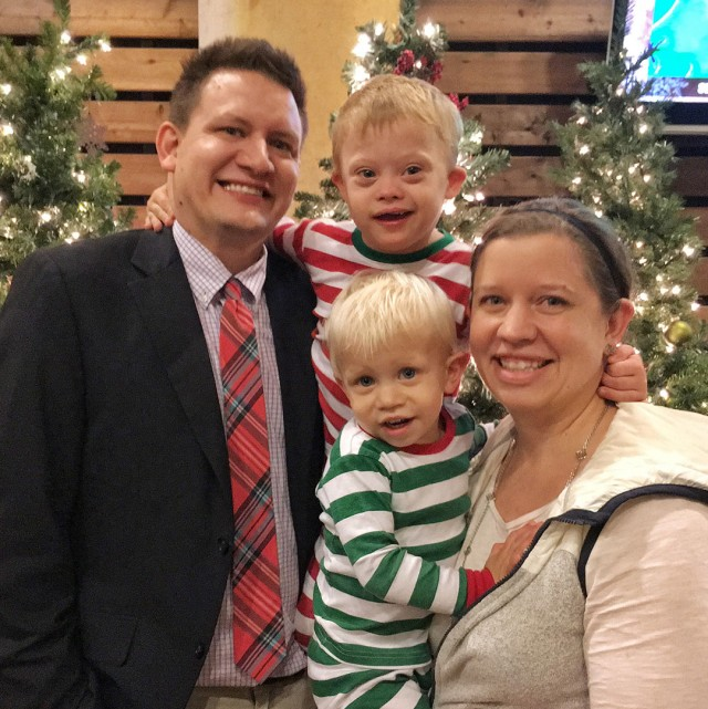 down syndrome family christmas picture