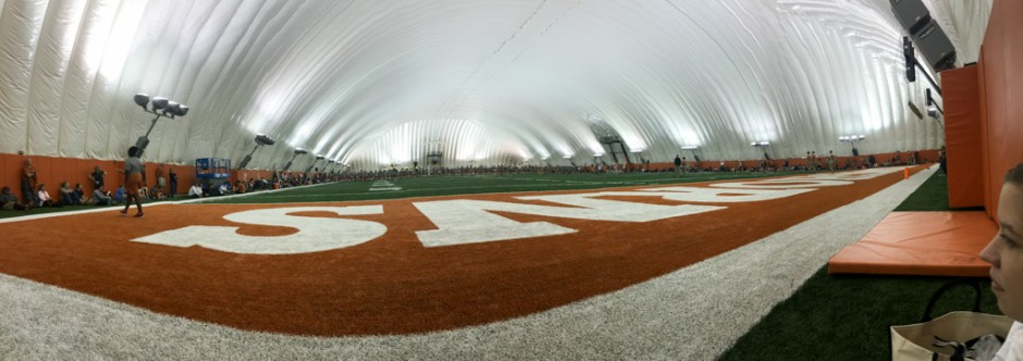 longhorn band rehearsal inside the dome