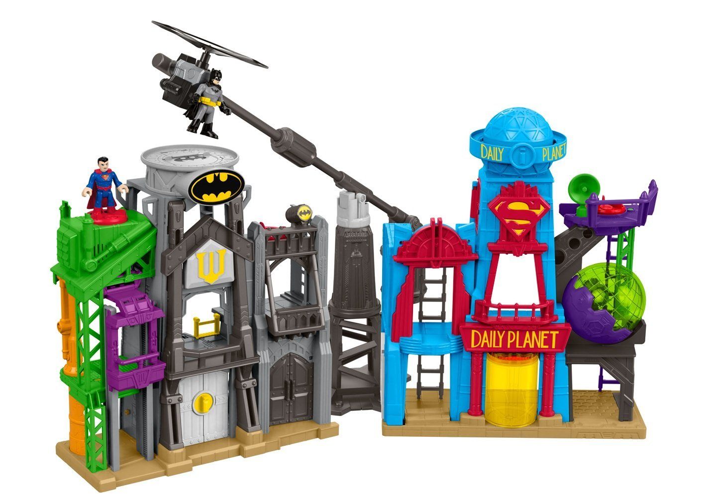 batman superman toy playset for kids with special needs