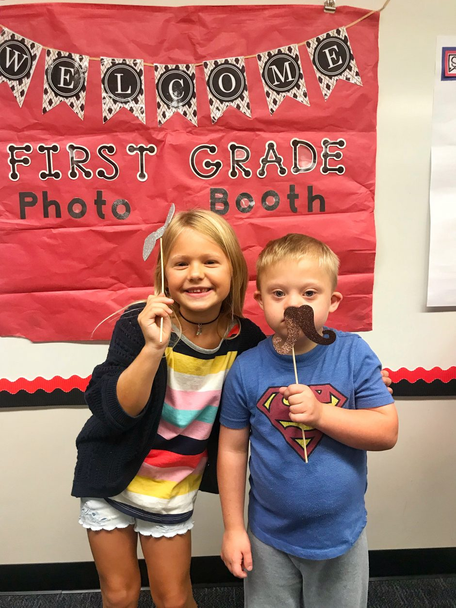 child with down syndrome first grade friendship