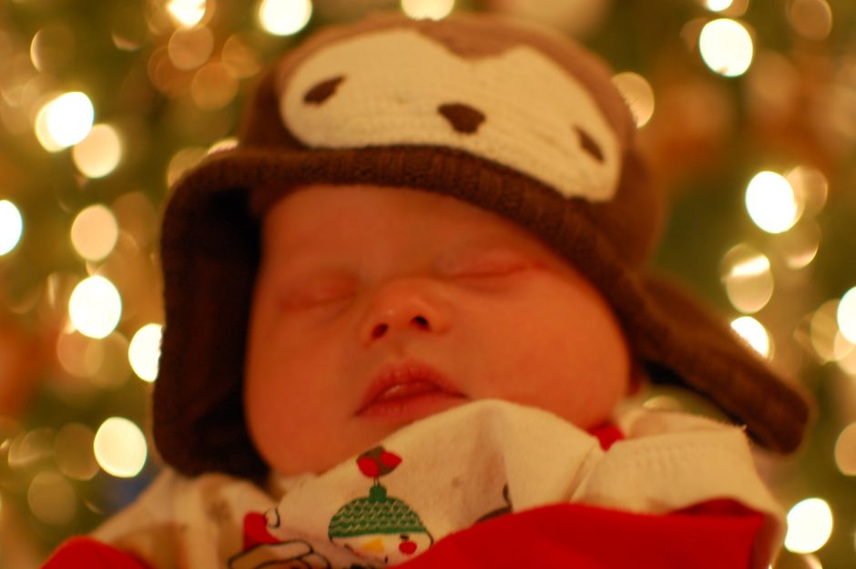 child with down syndrome first Christmas