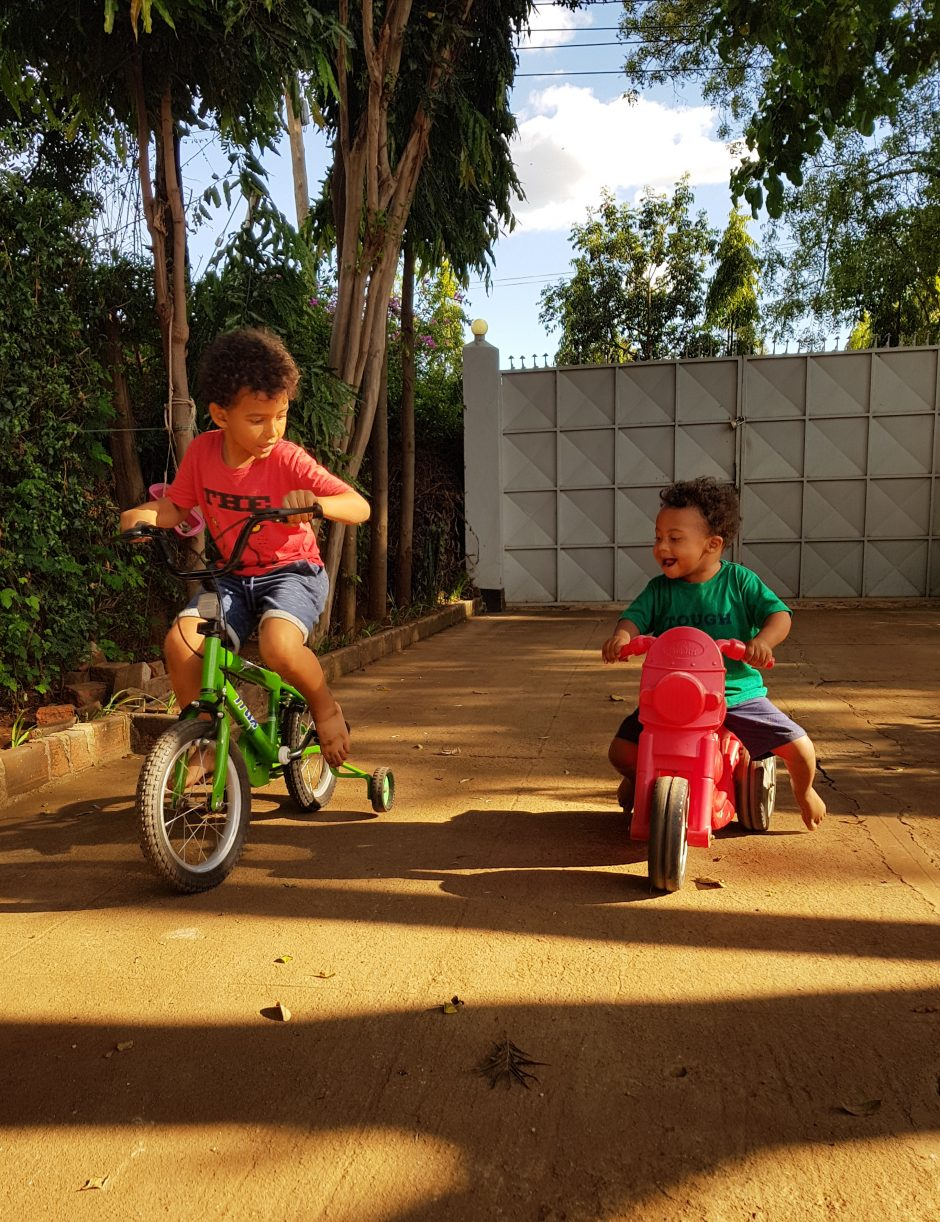children riding bikes in tanzania