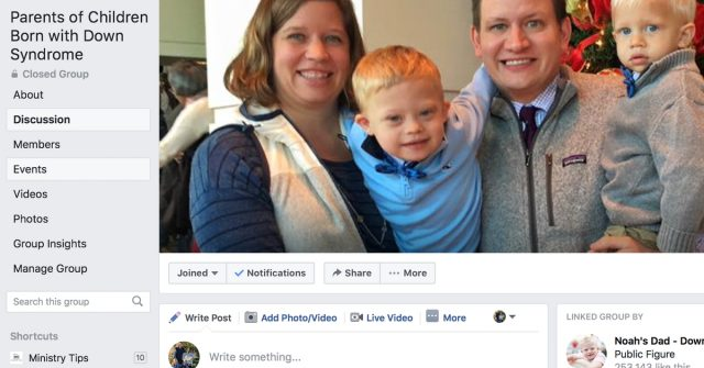 Introducing the Parents of Children Born with Down Syndrome Facebook Group
