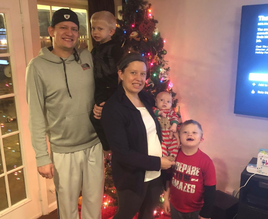 christmas picture family raising a child with Down syndrome