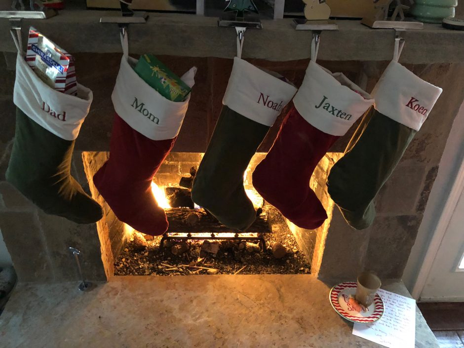 stockings including a child with Down syndrome
