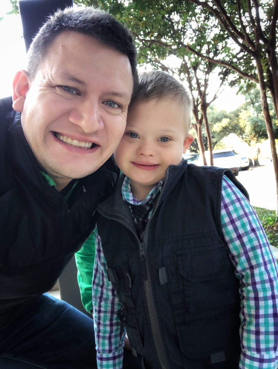 father and son with down syndrome