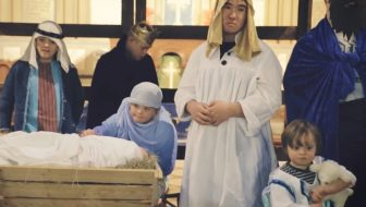 he came down nativity play