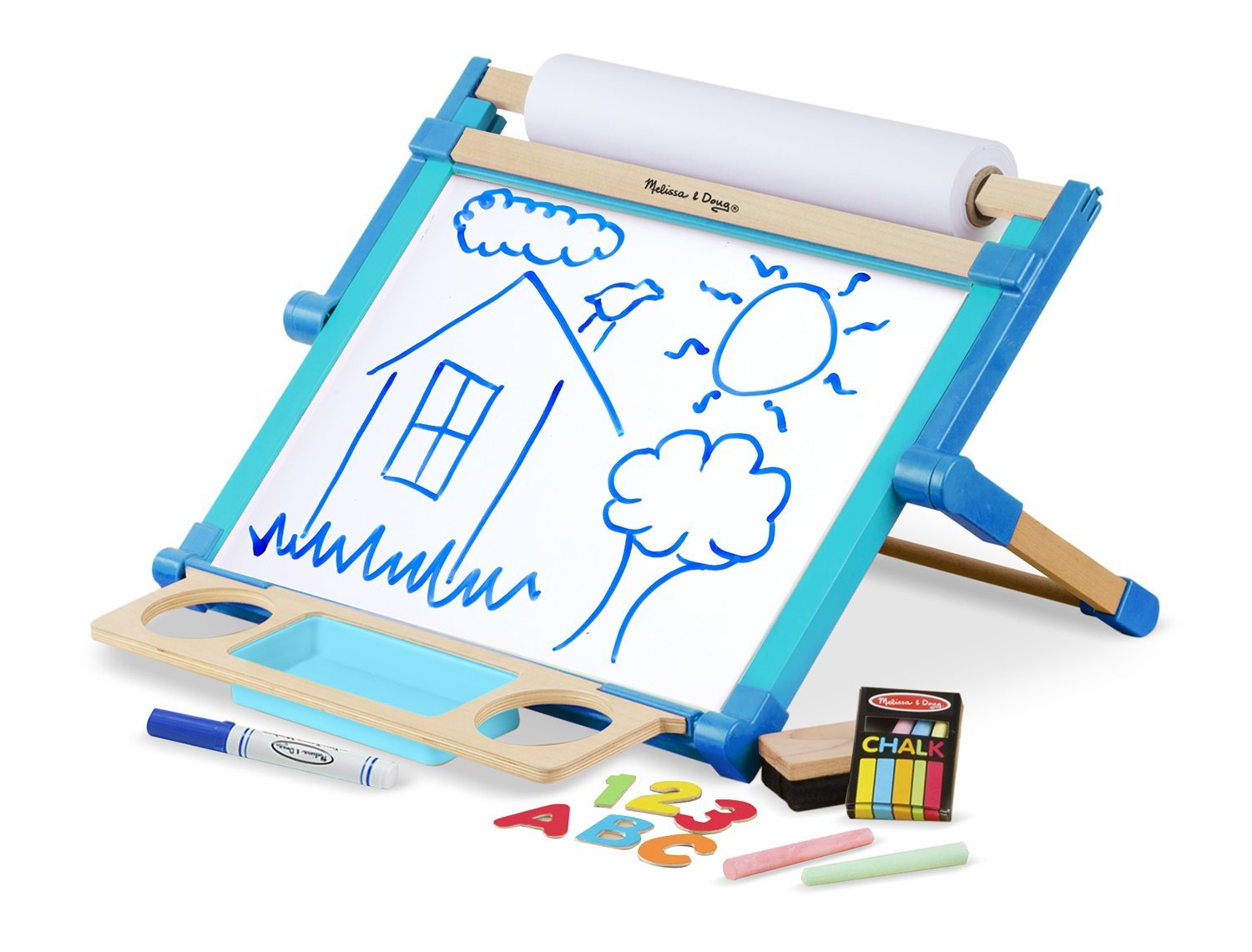 magnetic easel dry erase board melissa and doug