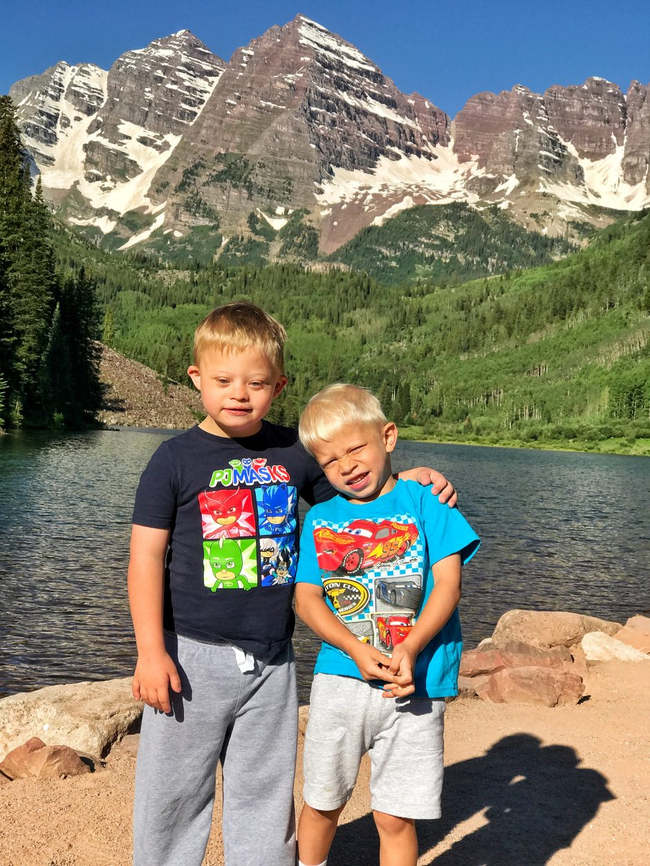 maroon bells colorado child with down syndrome first hike