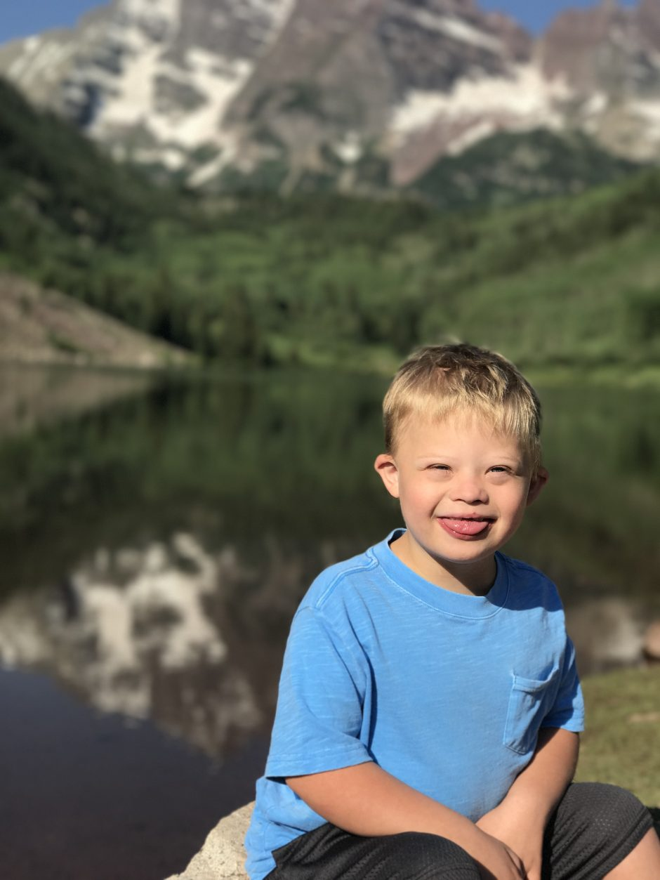 child with down syndrome portrait maroon bells
