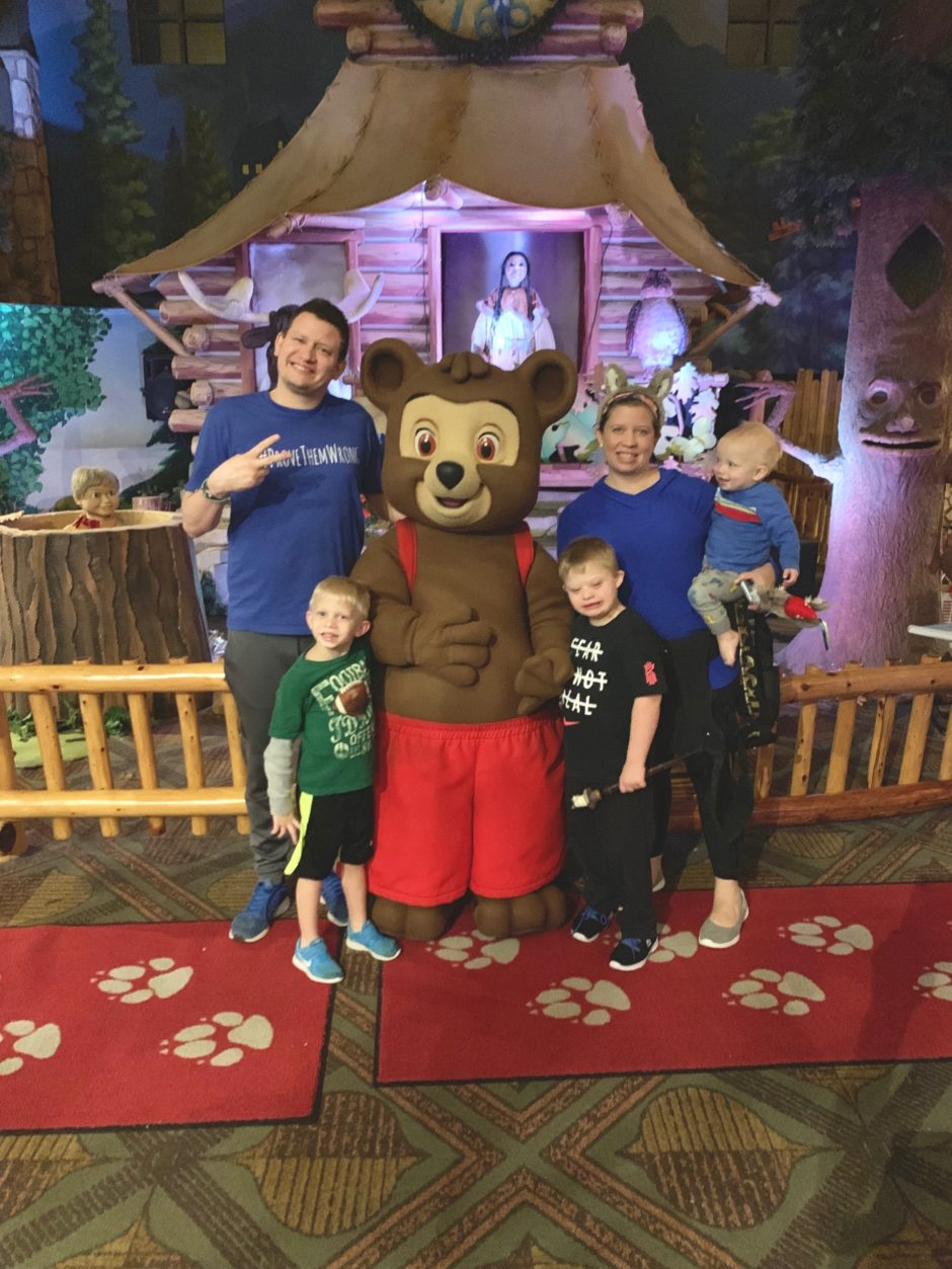 great wolf lodge child with down syndrome family