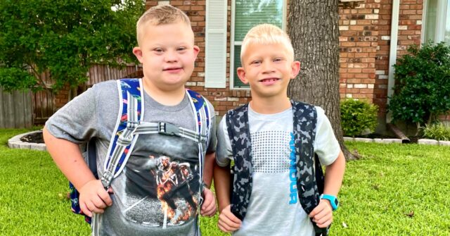 boy with Down syndrome going back to school