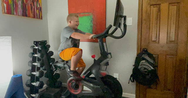 peloton disability down syndrome special needs